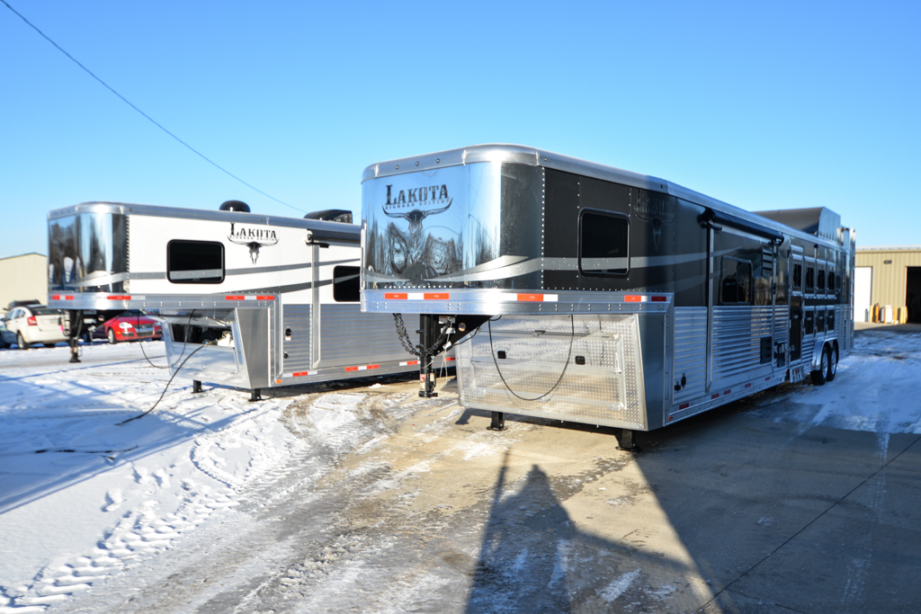 Two Bighorn Edition Horse Trailers.