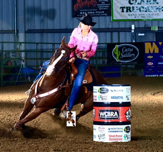Ellie Bonilla, Barrel Racing