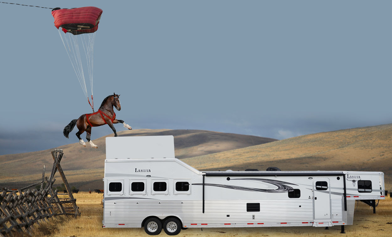 Horse Parachuting Trailer