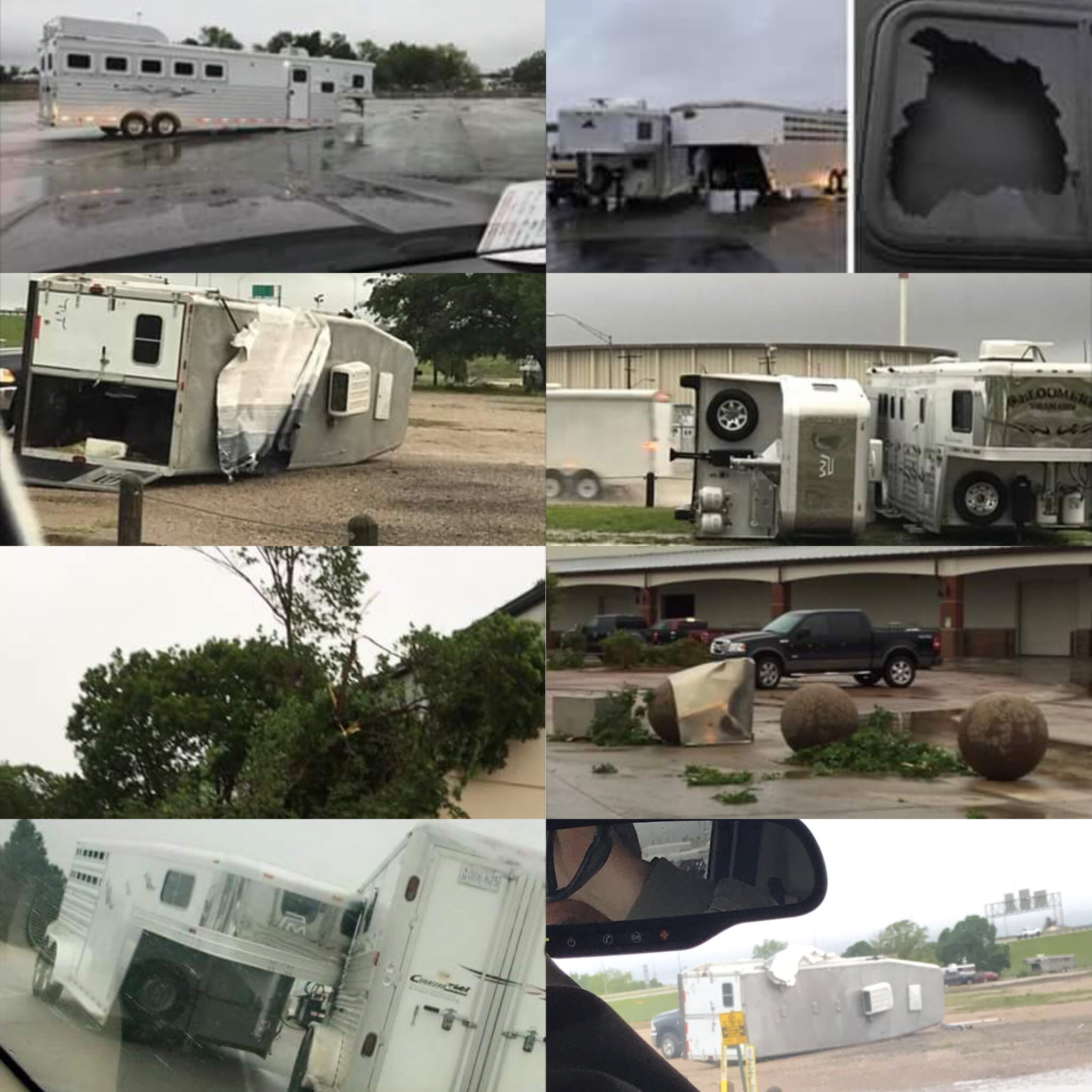 Horse Trailers in a storm